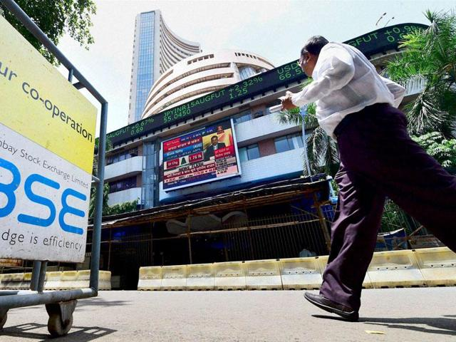 Sensex plunges 330 points ahead of GDP data release