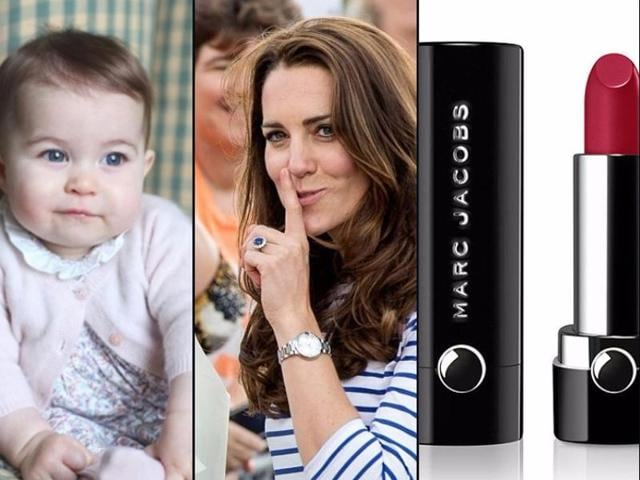 Marc Jacobs was inspired by one particular occupant of Kensington Palace for a new Le Marc lip creme lipstick. Apologies to the Duchess of Cambridge, Kate Middleton, but the muse behind the newest Marc Jacobs beauty lacquer is the royal residence's youngest tenant, Princess Charlotte, 9 months.(The Duchess of Cambridge and AFP)