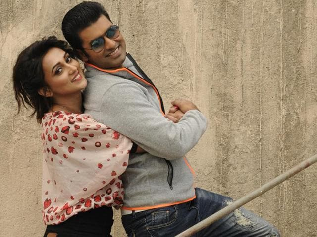Bengali actors Ankush and Mimi Chakraborty starred in Ravi Kinagi's Jamai 420 (2015) where they have a number of scenes together, but weren't pair opposite each other, unlike Ki Kore Toke Bolbo.(Samir Jana)