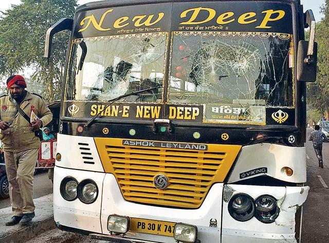Ram Het, 33, was killed when he was hit by a bus (PB 30 K 7478) of New Deep transport company on Tuesday evening. The transport firm is owned by Hardeep Singh 'Dimpy' Dhillon, Akali leader and party's halqa in-charge from Gidderbaha.