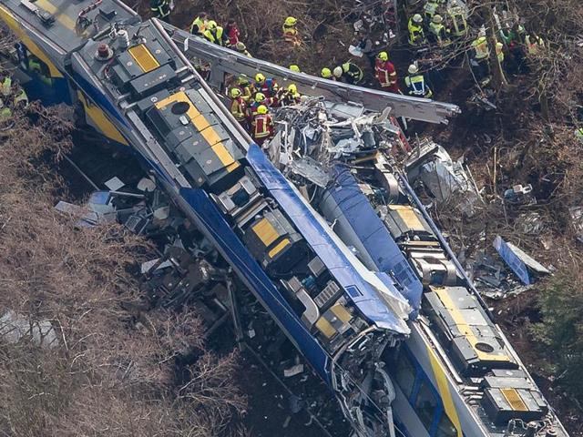 Head-on train collision in Germany kills at least 10, injures 80