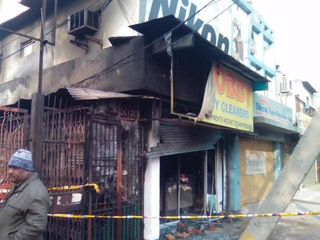 Police suspect the fire, which spread to the first floor of the building, was caused by a short-circuit.