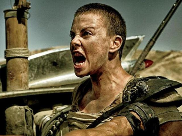 Charlize Theron in a still from Mad Max: Fury Road as Imperator Furiosa.