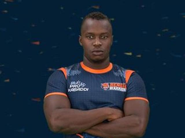 Felix Opana, a wedding entertainer back home in Kenya, is yet to get a game for the Bengal Warriors in the Pro Kabaddi League, but is enjoying the learning experience.