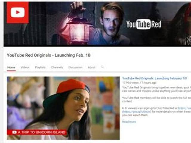 YouTube originals are now available on their official channel and have a varied price (Rs 50-250) depending on their length.