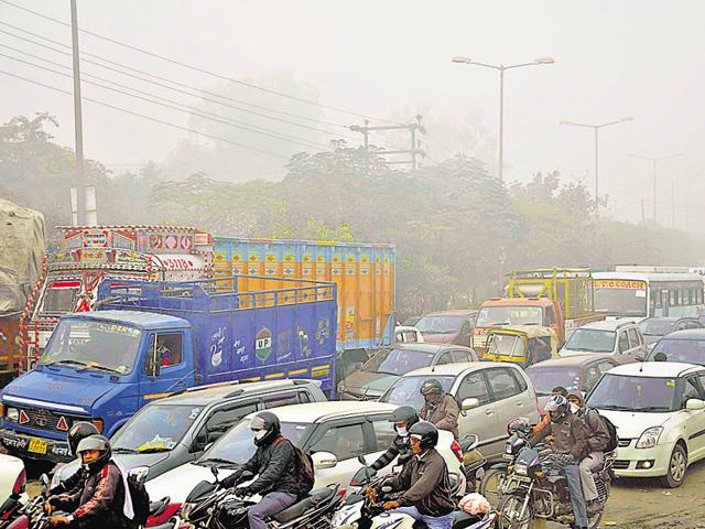 Ghaziabad,Car-free day,Pollution