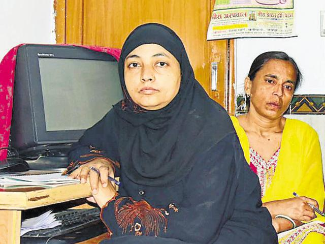 Jahanara (extreme left) was one of the two women who were the first to complete a course for Qazis, in Jaipur.