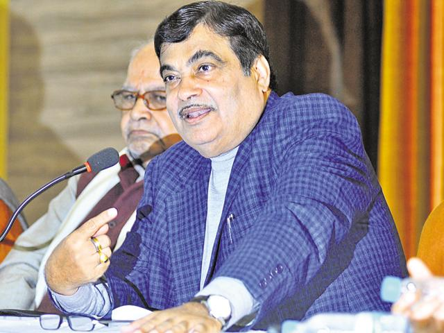 Nitin Gadkari in Lucknow on Tuesday.