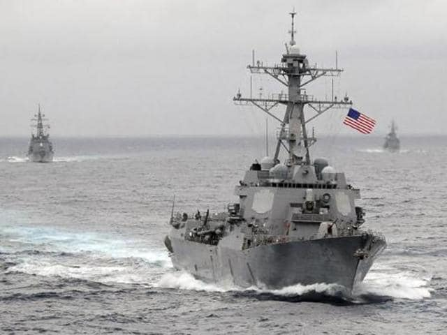 The US Navy conducted a similar exercise in October near one of China's artificial islands in the Spratlys.