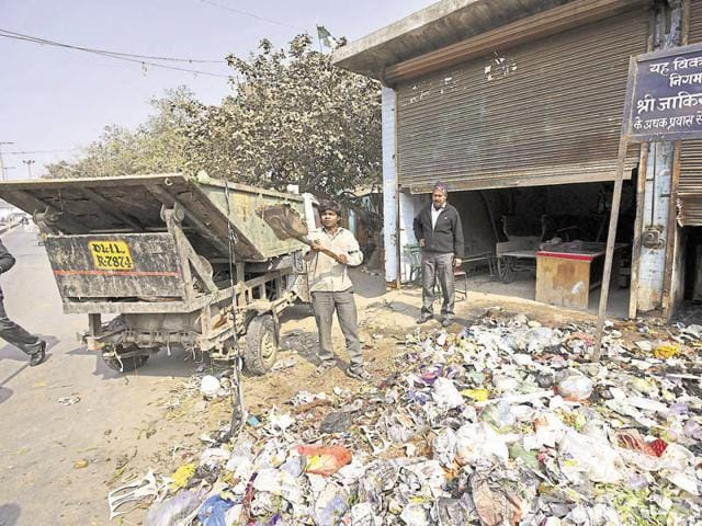Municipal corporation officials say it will take about two to three days to lift the entire garbage that was left on the roads after sanitation workers went on strike.