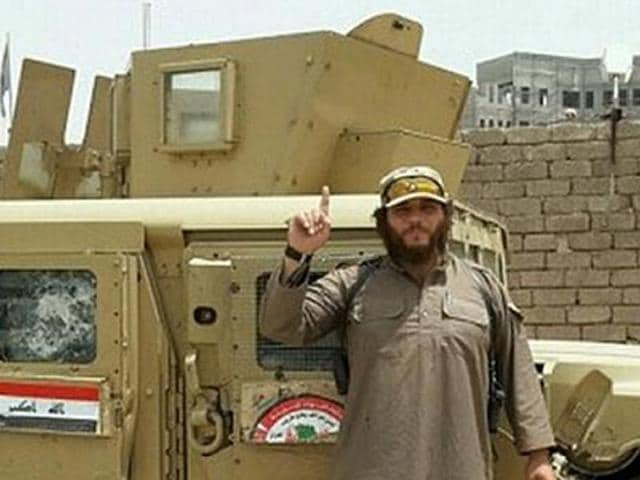 An undated picture of Khaled Sharrouf, soon after fleeing Australia and joining the Islamic State.