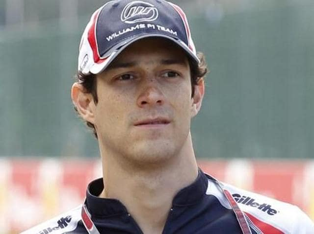 A file photo of Team Mahindra's Brazilian driver Bruno Senna.