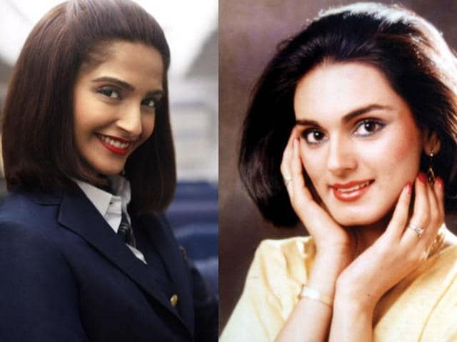 Sonam Kapoor (left) is playing the role of Neerja Bhanot in her biopic.