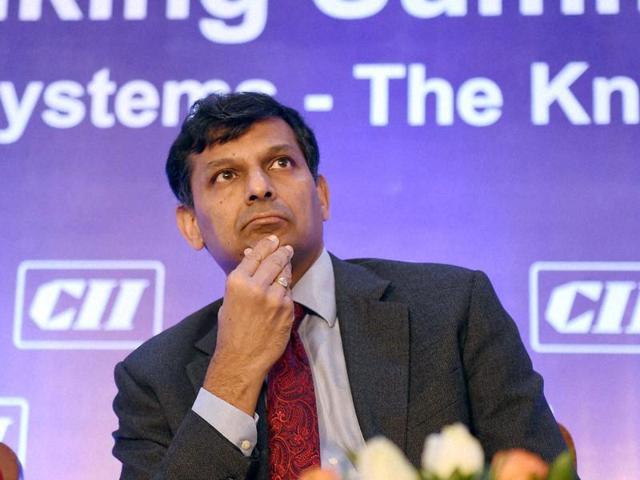 RBI Governor Raghuram Rajan during the CII's 1st Banking Summit in Mumbai.