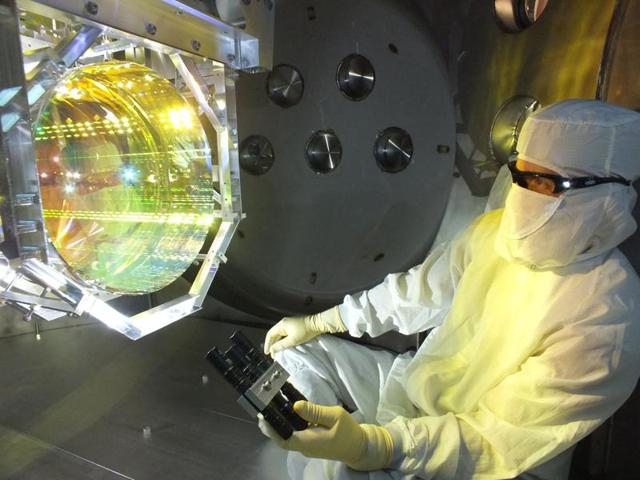 A scientist working at the Laser Interferometer Gravitational Wave Observatory (LIGO)  in Louisiana, US.