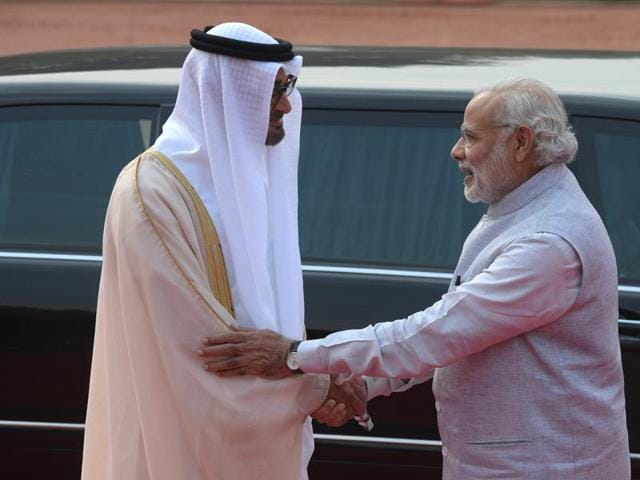 Earlier on Thursday, the crown prince, who arrived here on Wednesday on a three-day visit to India, was accorded a ceremonial welcome at the forecourt of the Rashtrapati Bhavan.