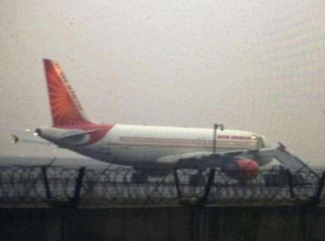 Air India pilots flew back to India a plane grounded by authorities at Sharjah airport, prompting the national carrier to bar a senior captain from operating international flights for violating regulations.