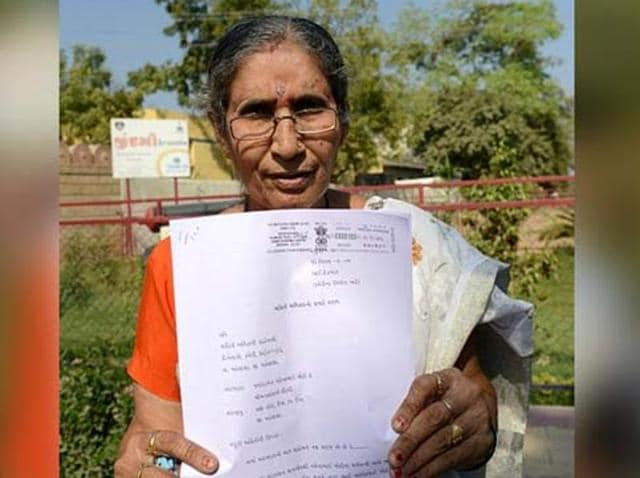 Jashodaben was denied a passport last year in November beacause she failed to produce her marriage certificate.