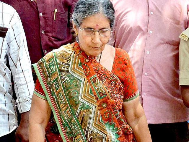 Jashodaben, Prime Minister Narendra Modi's estranged wife.