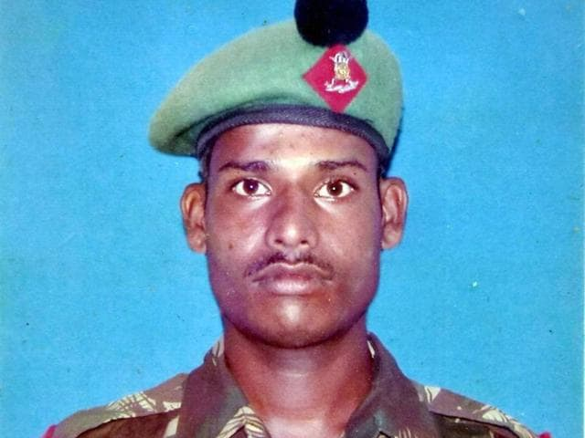 File photo of Lance Naik Hanumanthappa Koppad who breathed his last on Thursday after surviving an avalanche in Siachen a week ago.