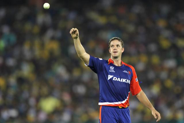 Albie Morkel during match 49 of the Pepsi IPL 2015 Indian Premier League.