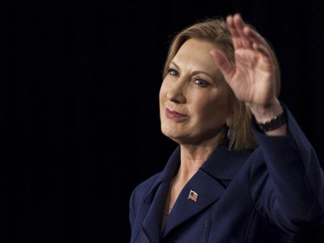 File photo of US Republican presidential candidate Carly Fiorina.  Fiorina dropped out of the 2016 White House race on February 10, 2016, the former business executive said in a posting on Facebook.