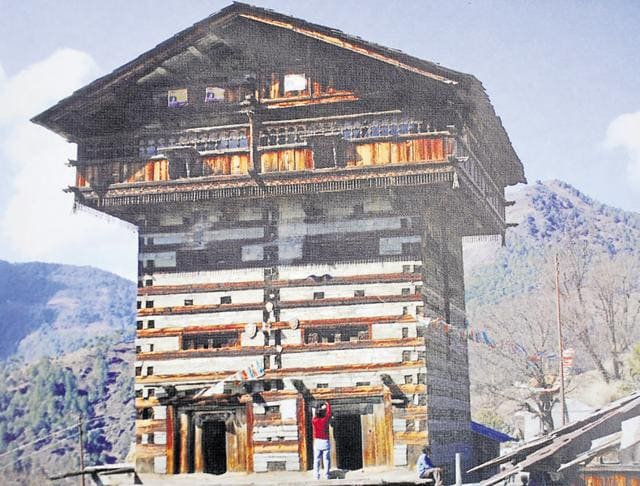 An earthquake-resistant traditional house at Koti Banal area in Uttarkashi.