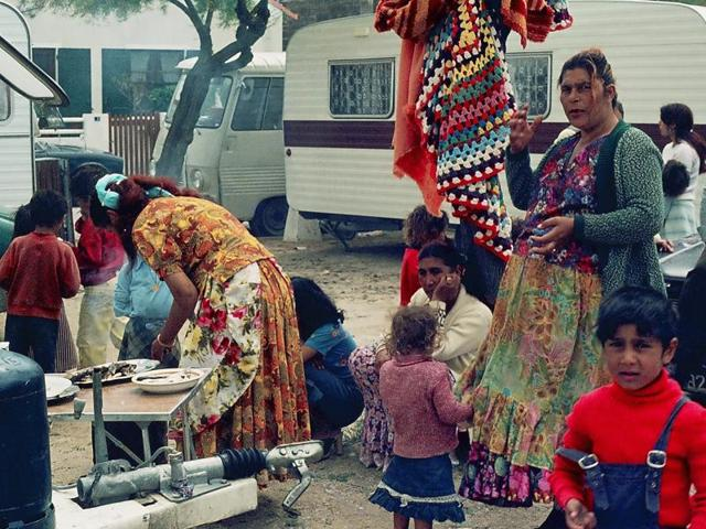 The Roma people are believed to trace their origin to nomadic communities like the Dom, Banjara, Gujjar, Sansi, Chauhan and Sikligar from the North West parts of India.