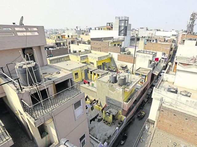 Lack of affordable housing has led to the messy growth of unplanned settlements like East Azad Nagar.