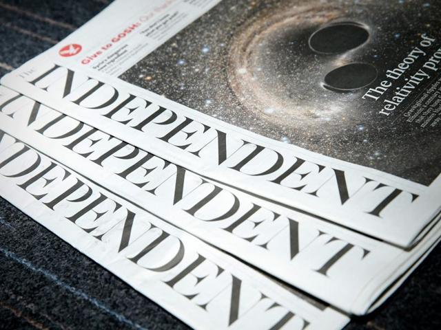Copies of the British newspaper