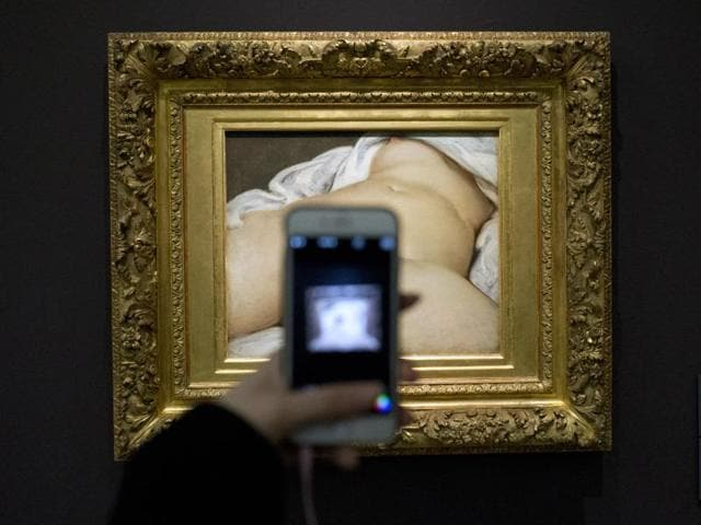 Frederic Durand-Baissas, a 57-year-old Parisian teacher and art lover whose Facebook account was suspended five years ago without prior notice for posting a photo of a famous 19th-century nude painting.(AP)