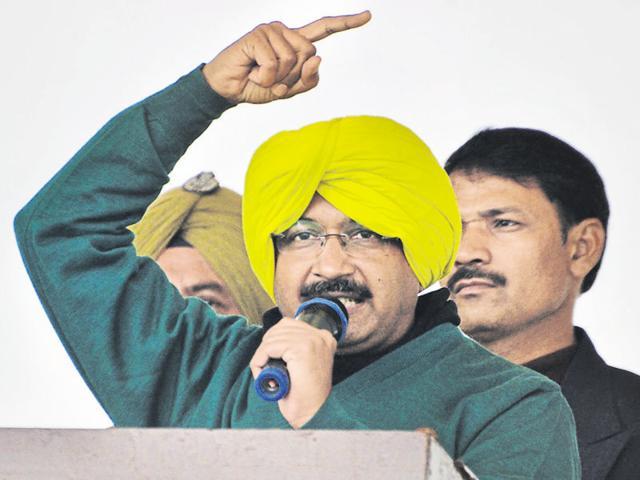 Delhi CM Arvind Kejriwal at a rally in Punjab's Muktsar  held earlier this year.