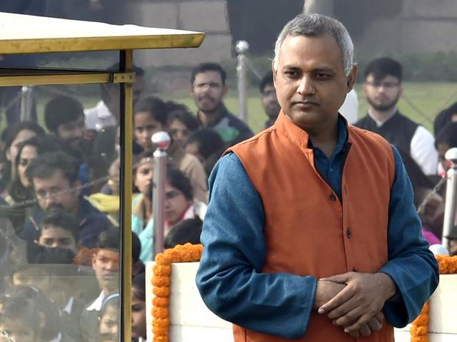 AAP leader Somnath Bharti arrived in Chennai  for discussions in the party on the strategy in the coming election