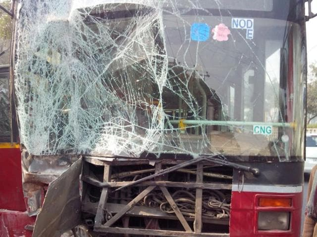 A contractual worker died inside a Delhi Transport Corporation (DTC) workshop when a speeding bus on trial run crushed him, police said.
