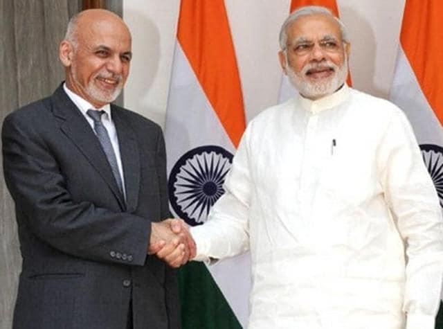 A file photo of Prime Minister Narendra Modi and Afghanistan's President, Ashraf Ghani.