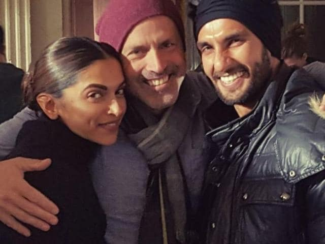 xXx director, DJ Caruso, posted a picture with Deepika Padukone and Ranveer Singh.