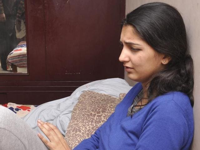 Snapdeal employee Dipti Sarna at her home in Ghaziabad after her release on Friday.
