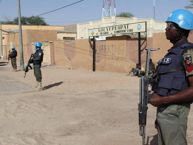Six UN peacekeepers were killed and some 30 wounded on Friday when suspected Islamists attacked their base in northern Mali.