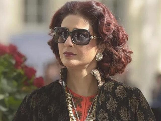 Tabu plays Begum Hazrat, a character based on Miss Havisham from Charles Dickens' Great Expectations.