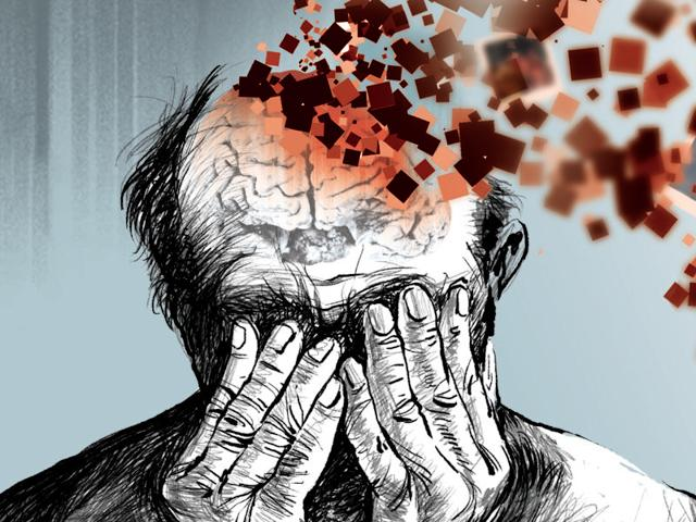 The first sign of dementia, particularly Alzheimer's is memory problems, but these are often dismissed as signs of old age.