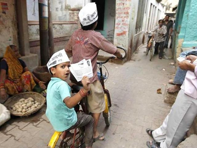 Today, the Aam Aadmi Party stands on the other side of the divide as it completes one year in power in Delhi.
