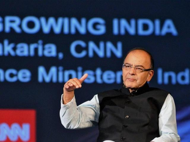 FM Arun Jaitley at the CNN Asia Business Forum during the second day of the Make In India Week in Mumbai on Sunday.