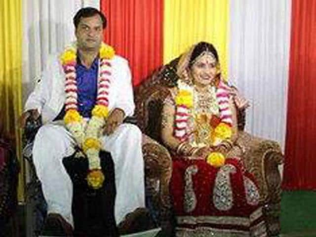 Gaurav and Savita at their wedding.