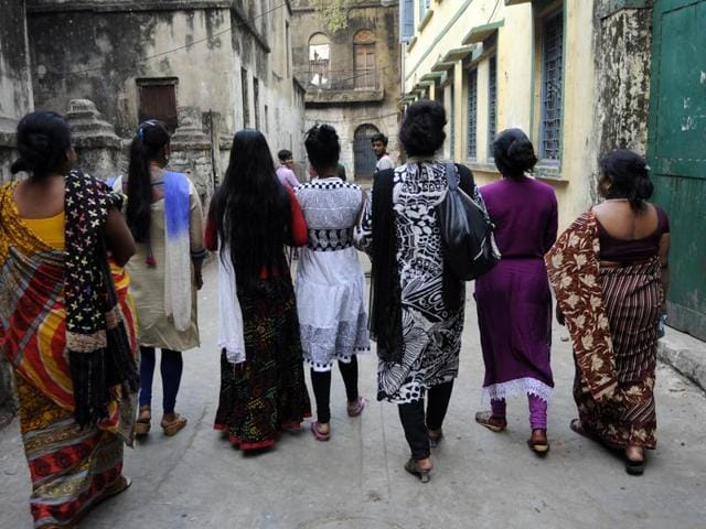 Prostitution per se is legal in India but it is caught in a web of laws that makes sex workers vulnerable to police action in red-light districts.(HT File Photo)
