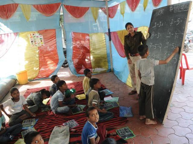 Police station turns school