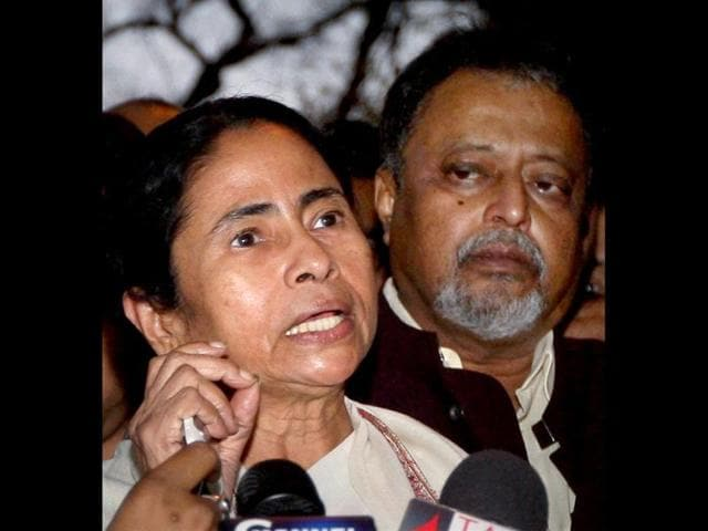 File Photo of West Bengal chief minister Mamata Banerjee and Trinamool leader Mukul Roy.