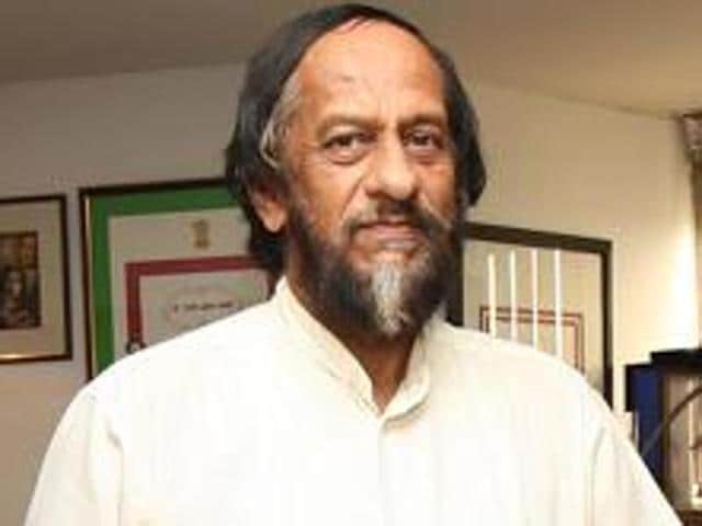Dr RK Pachauri at his TERIoffice at India Habitat Centre in New Delhi in this July 7, 2009 file photo.