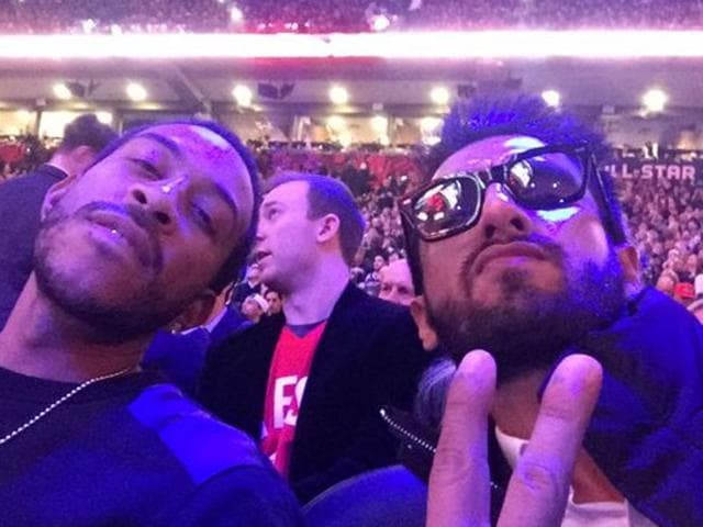 Ranveer Singh is all excited to pose with American star Ludacris.