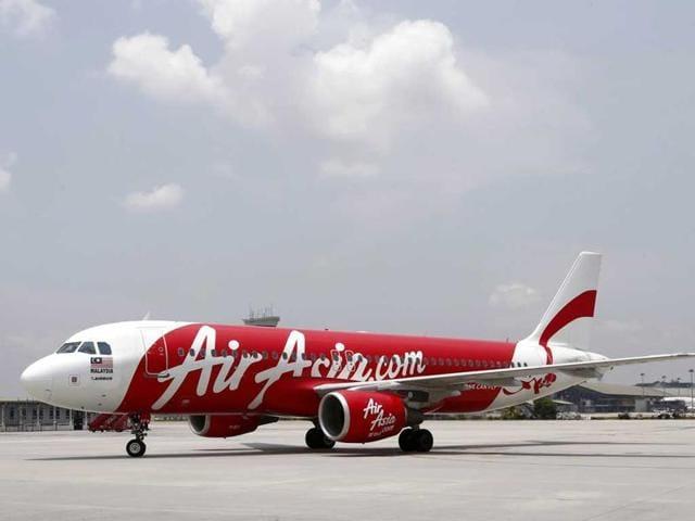 A file photo of an AirAsia plane at a runway.