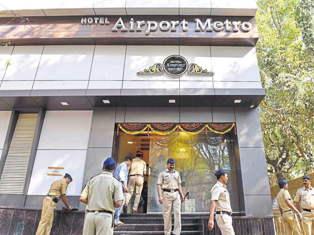 Mumbai Police probing at the hotel where the alleged encounter of Sandeep Gadoli took place in Andheri.
